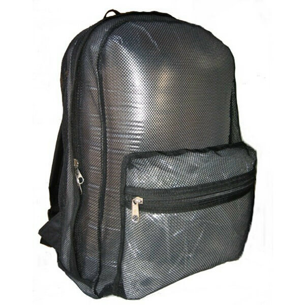 Gorgeous Black PVC Mesh See Through Backpack for School