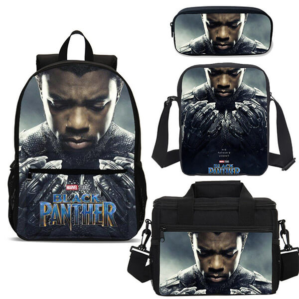 4 in 1 King T'Challa Black Panther Backpack Set
