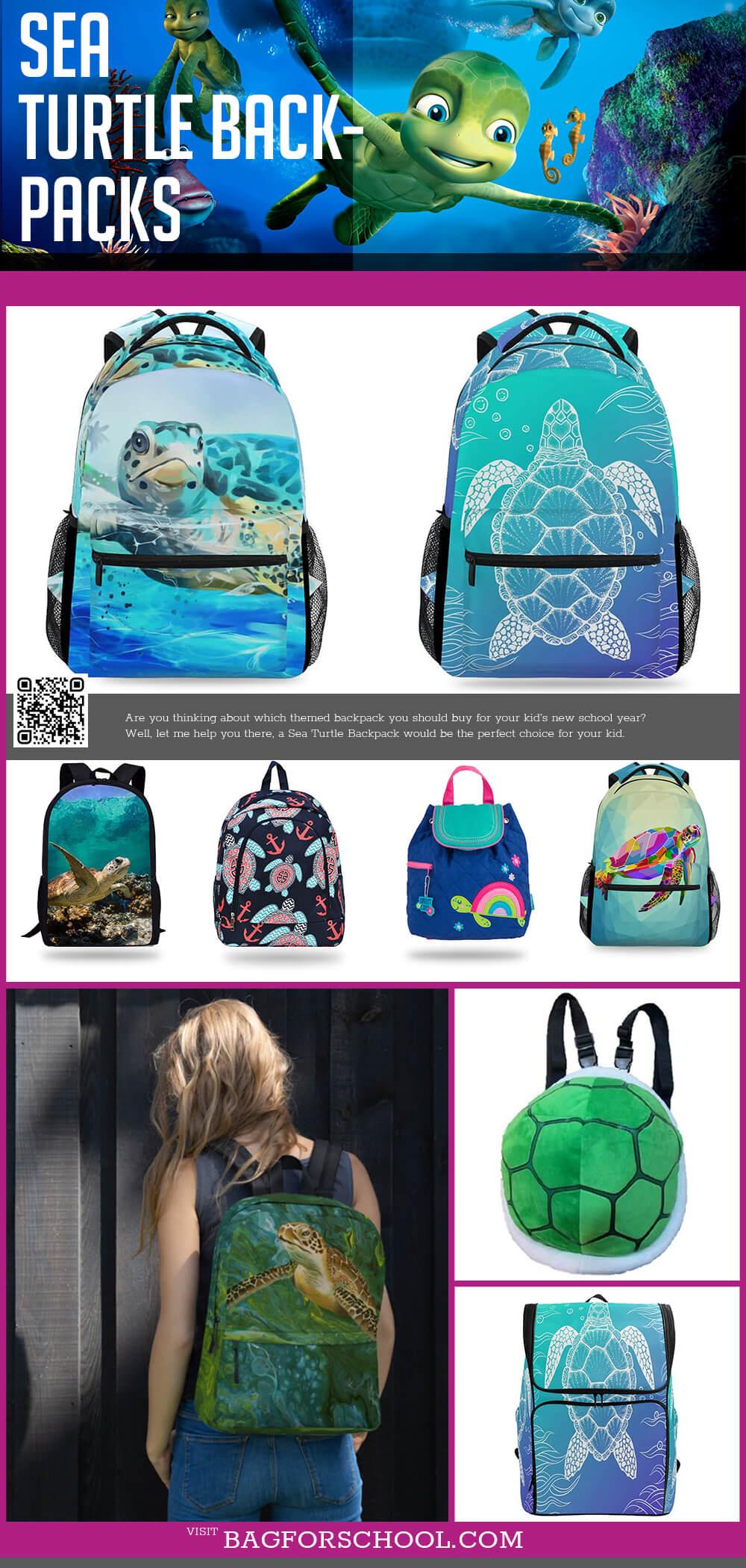 Turtle And Sea Turtle Backpacks