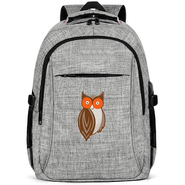 Hooters-Owl-Logo Anti-Theft Laptop Notebook Backpack