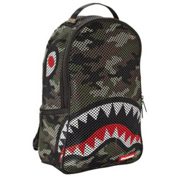 Shark Camo Mesh Clear Backpack