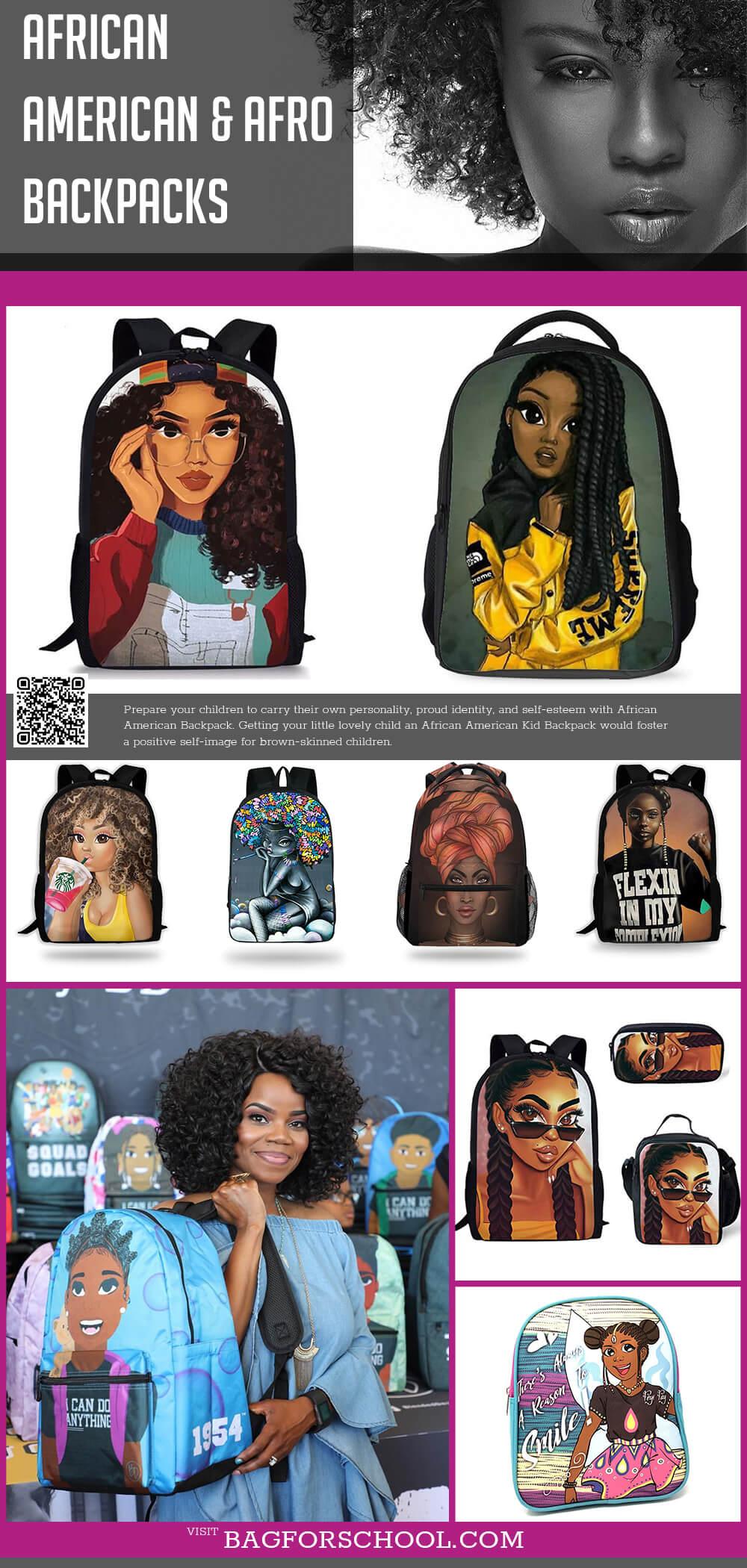 Afro Backpacks For Girls