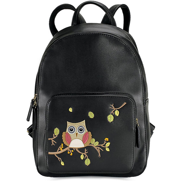 Synthetic Vegan Leather Owl Backpack