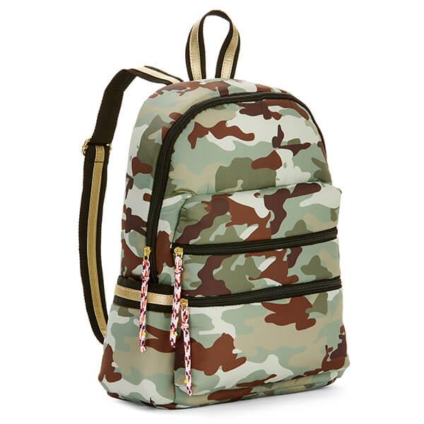 Light Camouflage Nylon Backpack