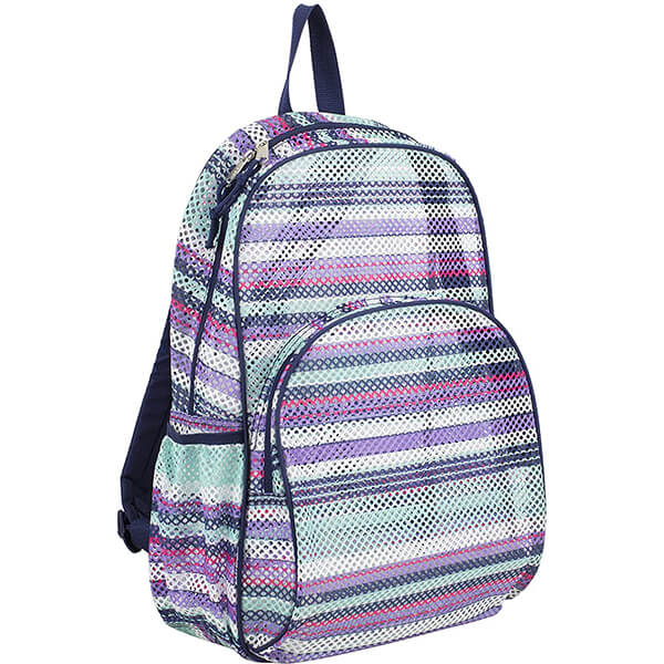 Candy Stripe Easy Transport Mesh Backpack