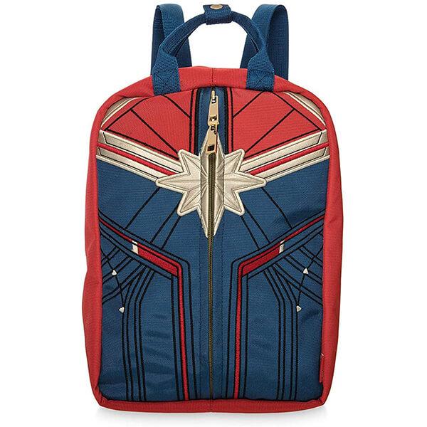 Captain Marvel Golden Logo Backpack with Handbag