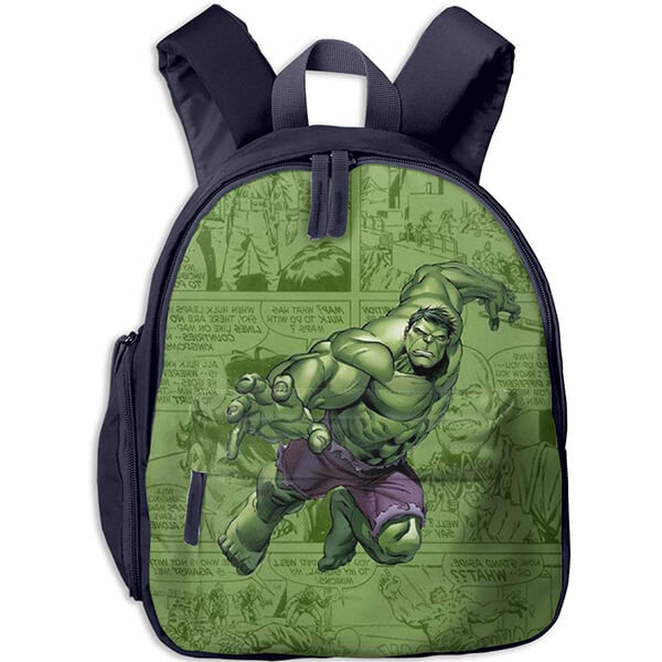 Ergonomic Comic Scripted Cute Hulk Bookbag