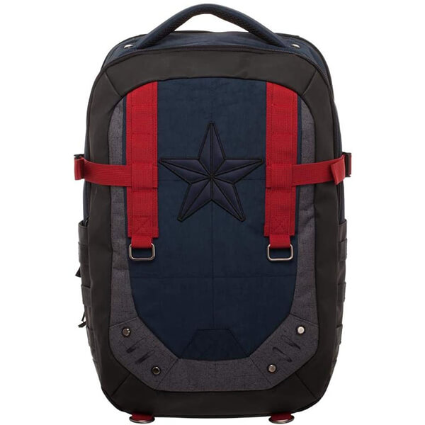 Red Straps Captain America Kids Backpack