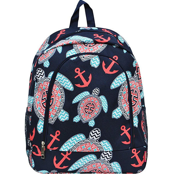 Anchor Navy Sea Turtle Backpack