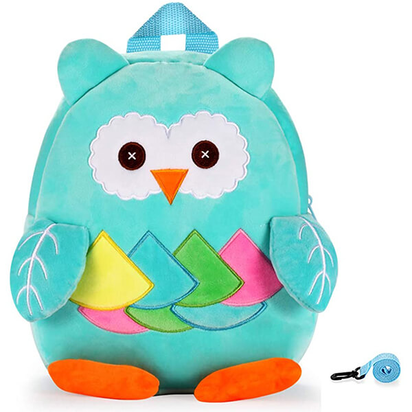 Stuffed Cartoon Owl Fluffy Plush Book Bag