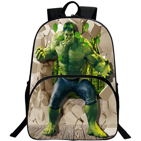 3D Super Hero Nylon Hulk Backpack