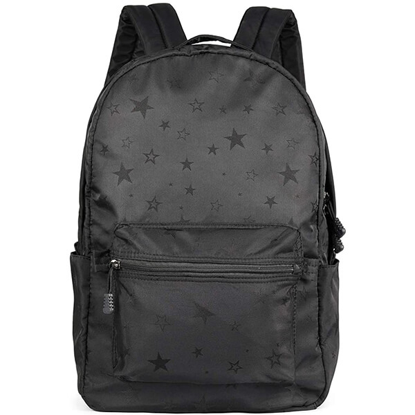 Black Stars Kids Water Resistant Nylon Backpack