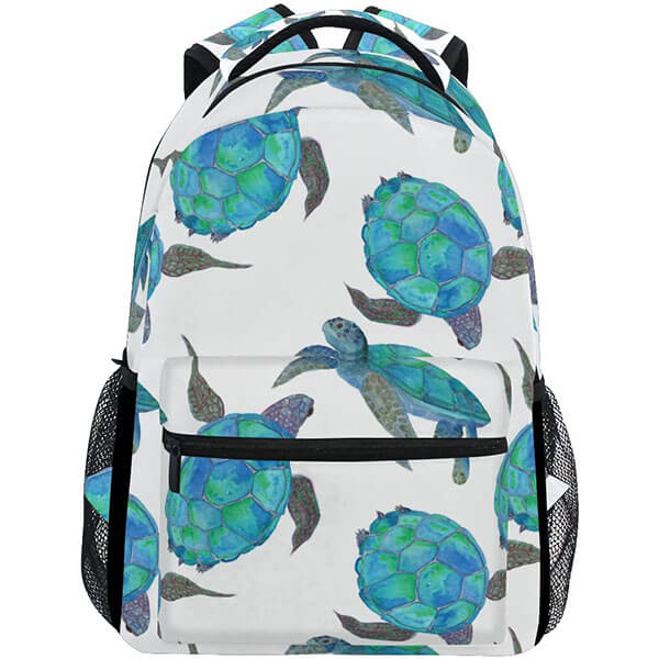 Blue Sea Turtle Backpack