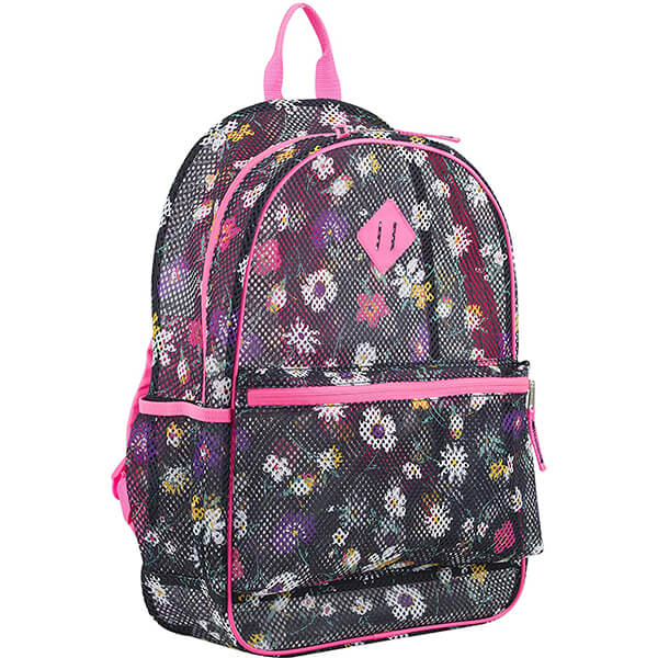 Cute Flowers Girls Mesh Backpack