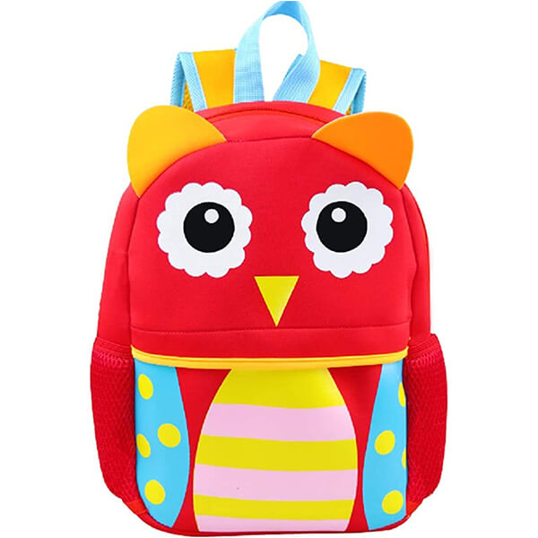 Flower Eye Water-Resistant Neoprene Owl Book Bag