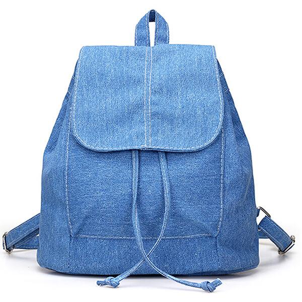 Gift Me Blue Women's Denim Backpack