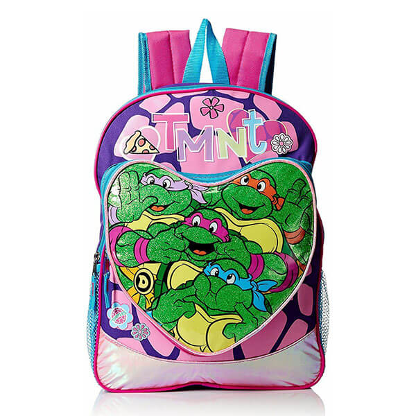Glittery Heart Teenage Mutant Ninja Turtles Backpack