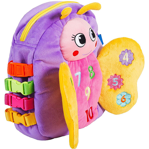 Learn Counting Plush Blossom Butterfly Backpack