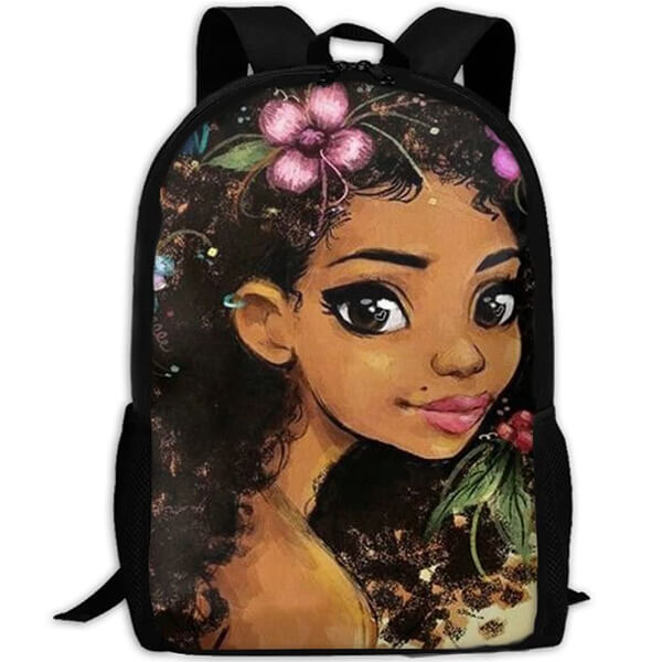Nylon Oxford Fabric Afro Girl Book Bag