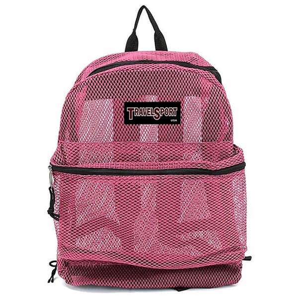 Hot Pink Mesh See Through Backpack