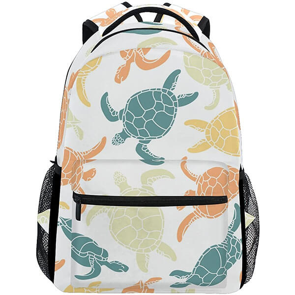 Ocean Sea Beach Cute Turtle Backpack