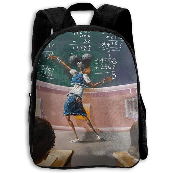 School Classroom Oxford African American Kid Book Bag
