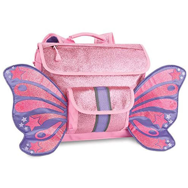 Sparkly Pink Kids Butterfly Backpack with Wings