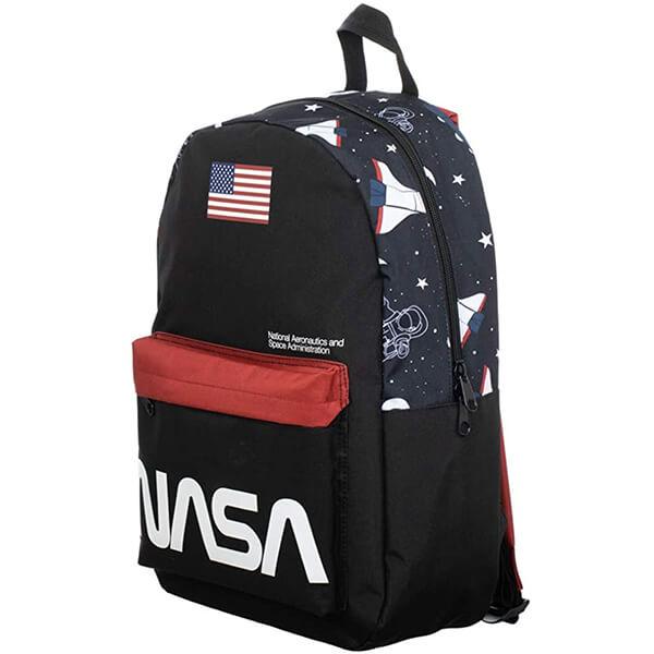 Sublimated Panel USA Flag Print High Schoolers NASA Backpack