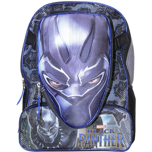 Black Panther Backpack with Detachable Lunch Box