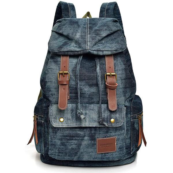 Stonewash Jeans Retro Denim Backpack