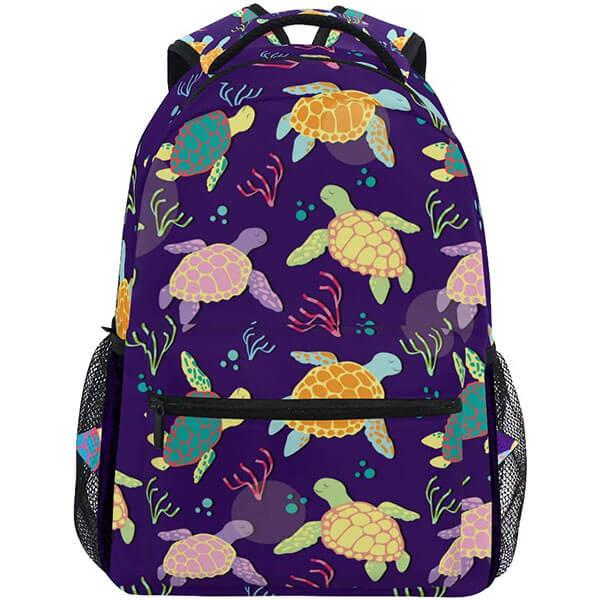 Violet Ocean Tortoise Sea Turtle Backpack
