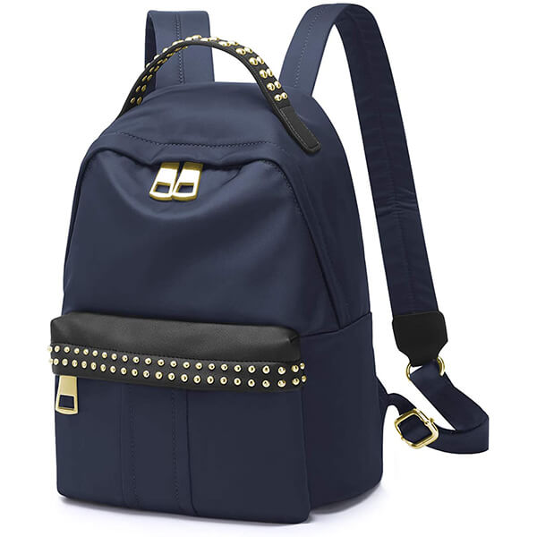 Yellow Striped Lining Nylon Backpack