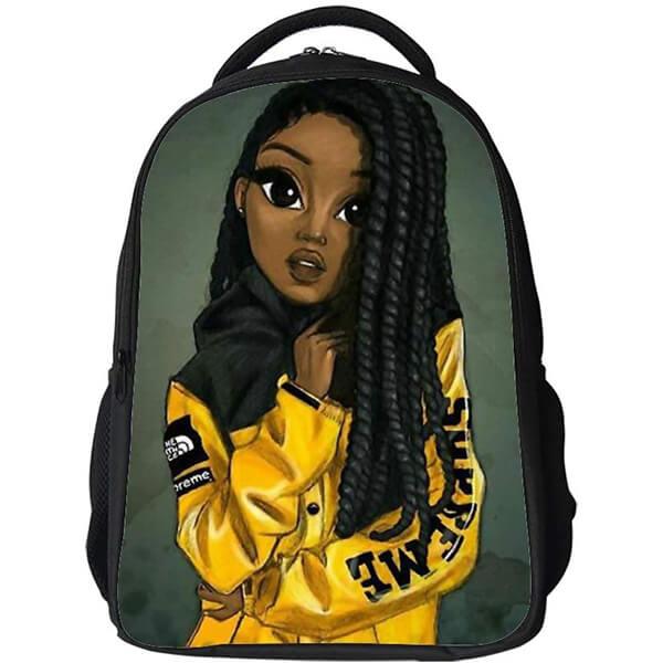 Black Art Water Repellent Nylon Afro Backpack