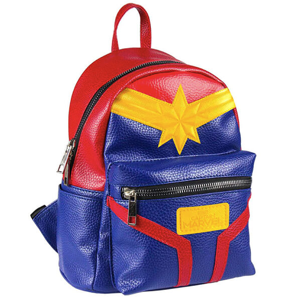 Captain Marvel Logo Vibrant PU Backpack