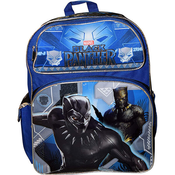 Deluxe Embossed Black Panther Backpack