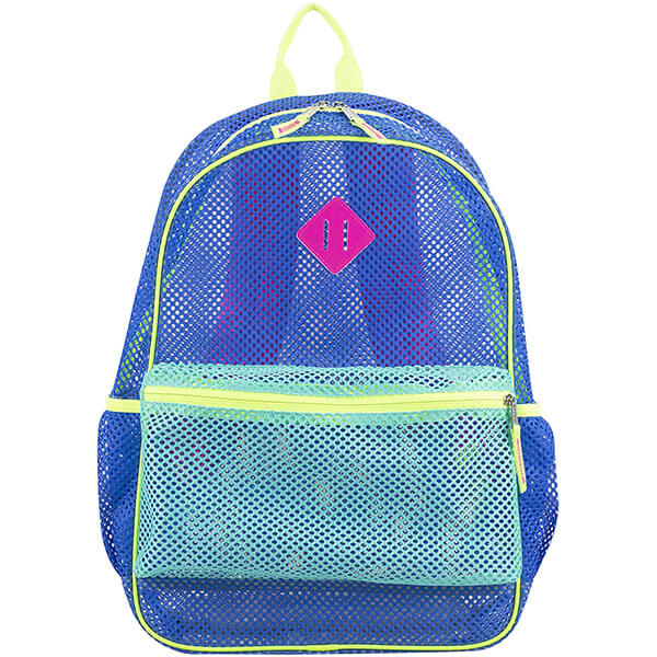 Dynamic Blue Mesh See Through Backpack