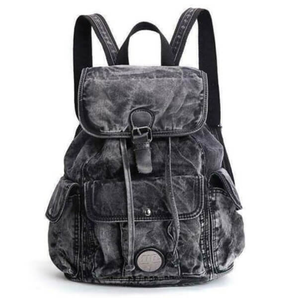 Gray Jeans Adorable Denim Backpack