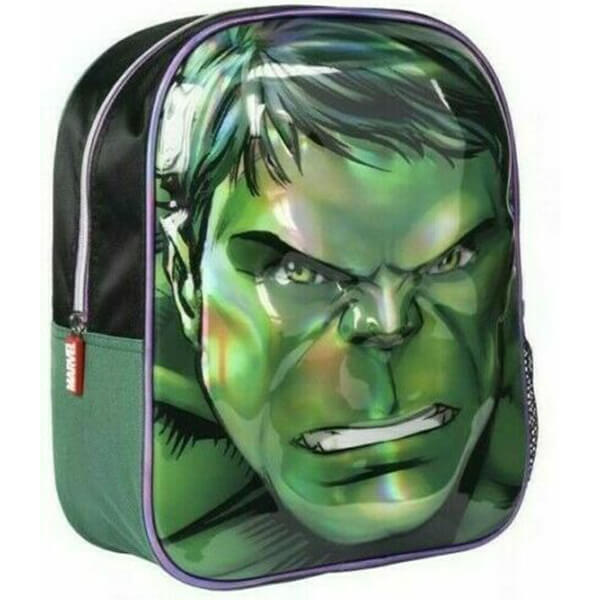 Hulk 3D Face Kindergarten Boys Backpack
