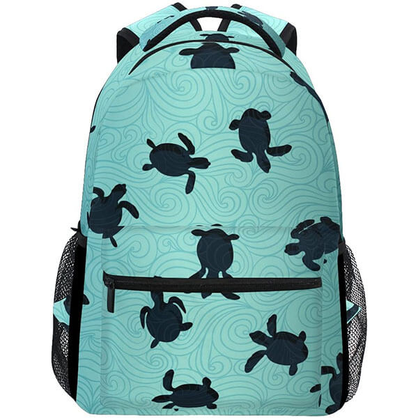 Sea Life Polyester Turtle Backpack