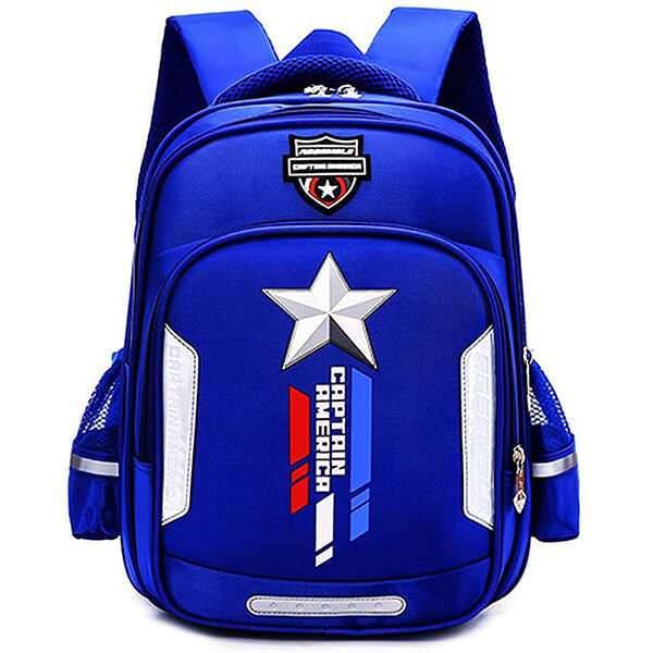 Gorgeous Blue Captain America Kids Backpack