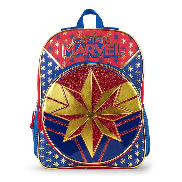 Marvel-themed Glittering Stars Captain Marvel Backpack