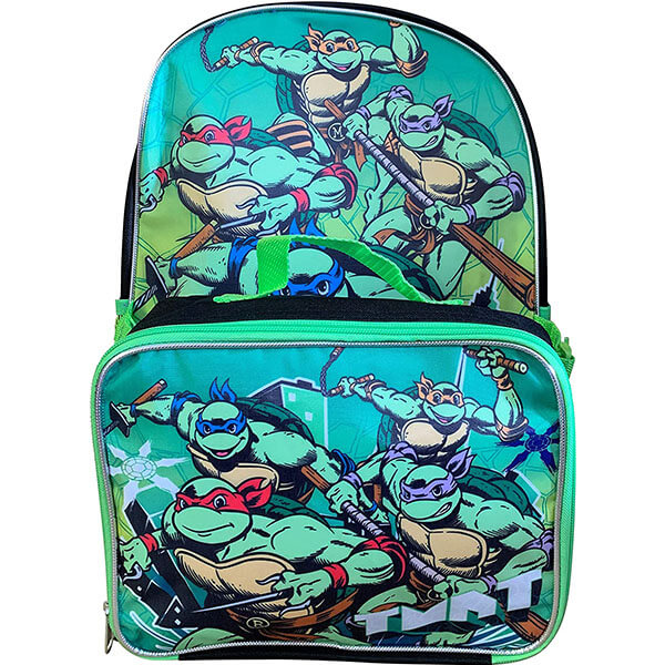 TMNT Ninja Turtles Bookbag with Detachable Lunch Bag