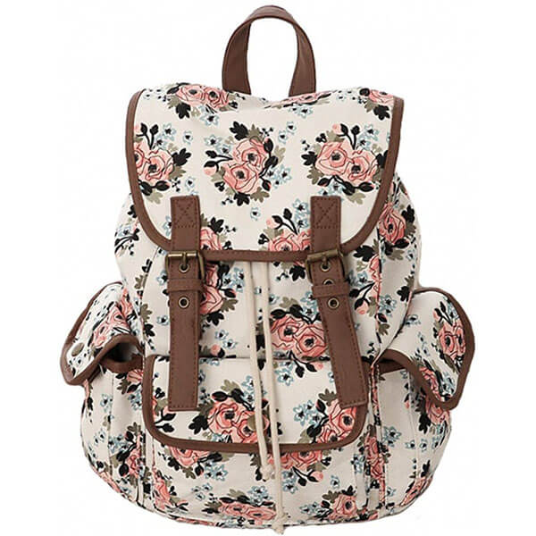 Canvas Rose Backpack for Kids