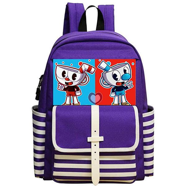 Cuphead and Mugman Purple Color Backpack