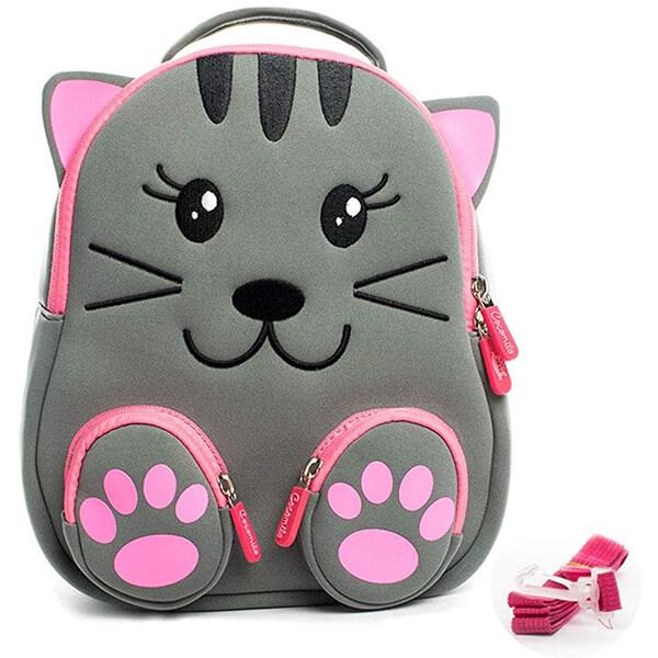 Cute Paw Water Resistant Cat School Backpack
