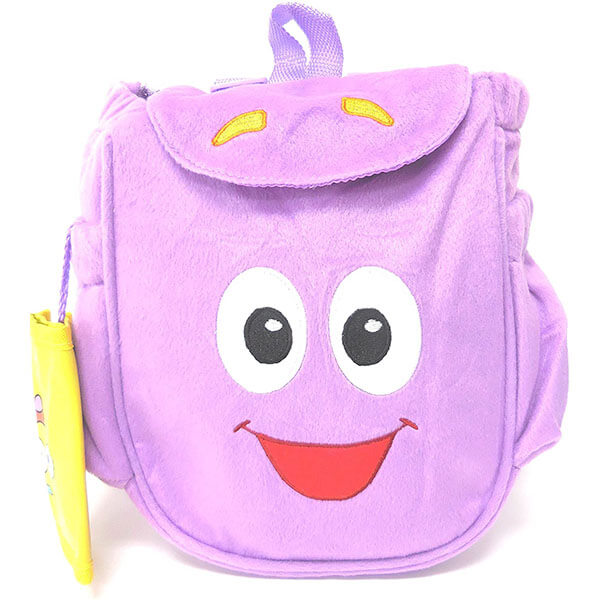Plush Purple Mr. Backpack With Dora and Map