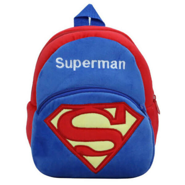 Toddlers Superman Cool Plush Backpack