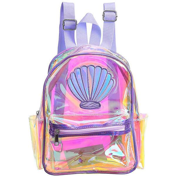 Transparent Backpack with Mini Sequins Shoulder Bag