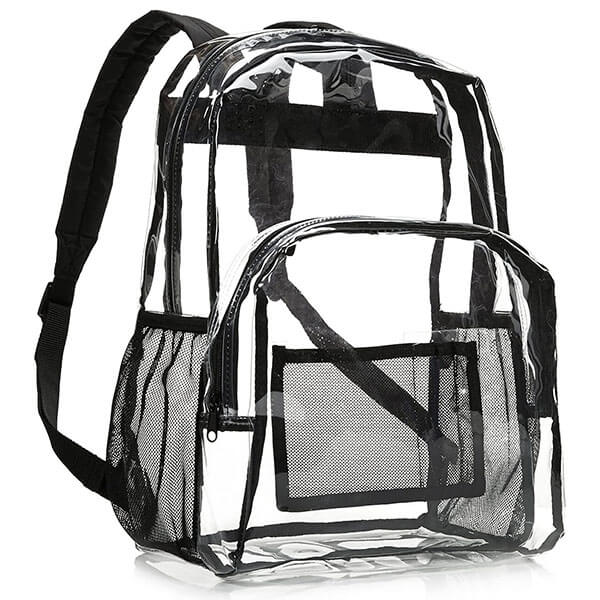Clear Backpack with Mesh Front Organizer