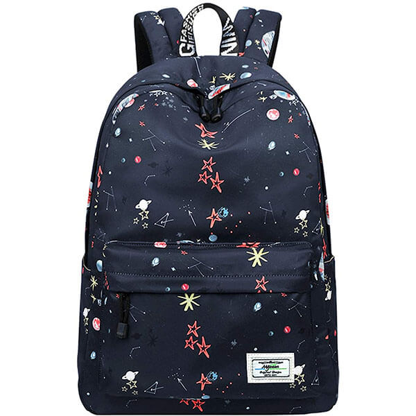Cute Water Repellent Galaxy Backpack For Kids